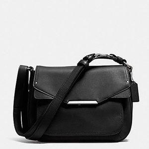 $328 NWOT Coach F31844 Taylor  Leather Flap •